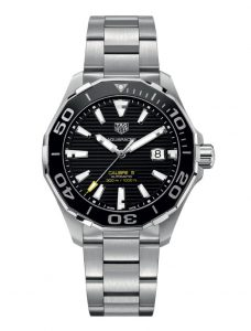 The durable fake TAG Heuer Aquaracer WAY201A.BA0927 watches are made from stainless steel.