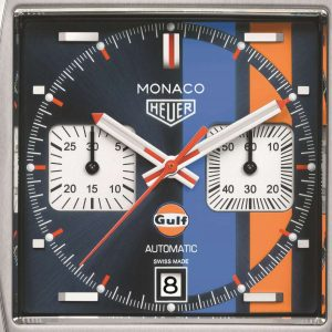 The square copy TAG Heuer Monaco CAW211R.FC6401 watches have colorful dials.