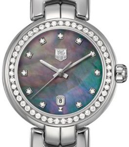The 29 mm copy TAG Heuer Link WAT1419.BA0954 watches have colorful mother-of-pearl dials.