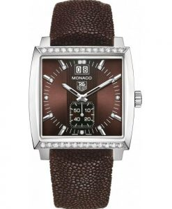 The sturdy replica TAG Heuer Monaco WAW1316.EB0025 watches are made from stainless steel.