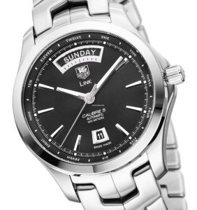 The 42 mm copy TAG Heuer Link WJF2010.BA0592 watches have black dials.