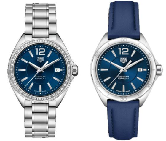 The 35 mm fake TAG Heuer Lormula 1 watches have blue dials.