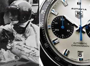 Jo Siffert wears the Heuer Autavia 1163T.