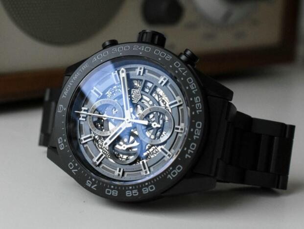 The all-black design makes this TAG Heuer very cool.