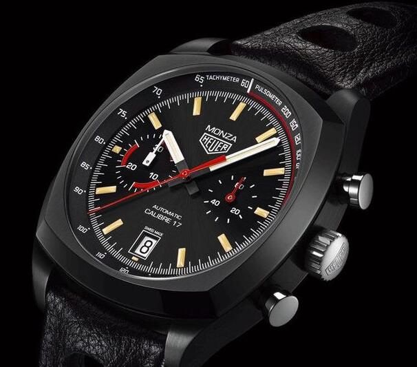 The dial has been inspired by the classic color-matching of the Ferrari Racing.