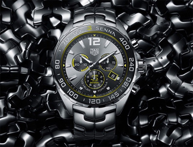 The yellow elements make the Swiss TAG Heuer replica more dynamic.