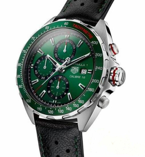 Online replica watches maintain the best beauty with green color.